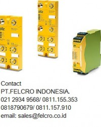 Pilzsafety relay PNOZ - PT.Felcro Indonesia - 0818790679 - sales@felcro.
