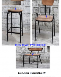 Iron Chair Cafe Type RHIC003