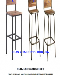 Iron Chair Cafe Type RHIC006