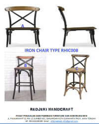 Iron Chair Cafe Type RHIC008