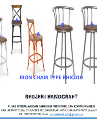 Iron Chair Cafe Type RHIC010