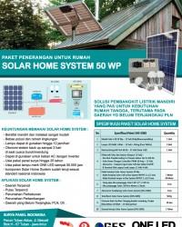 PAKET PLR SOLAR HOME SYSTEM 50 WP