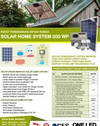 PAKET SOLAR HOME SYSTEM 200 WP