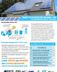 Paket PLTS Rooftop On-Grid 1 Kw