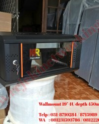"Wallmount Rack 19"" 4U depth 450mm Single Door - Haganerack"
