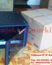 Rack Server Wallmount 8U depth 600mm Singgle Door