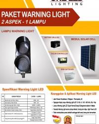 PAKET WARNING LIGHT TENAGA SURYA (2 ASPEK - 1 LAMPU)