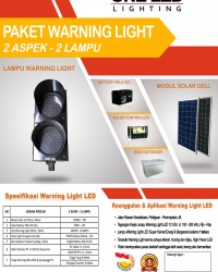 PAKET WARNING LIGHT TENAGA SURYA (2 ASPEK - 2 LAMPU)