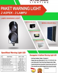 PAKET WARNING LIGHT TENAGA SURYA (2 ASPEK - 3 LAMPU)