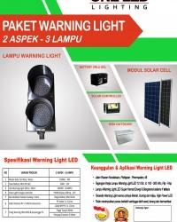 PAKET WARNING LIGHT TENAGA SURYA (2 ASPEK - 3 LAMPU)