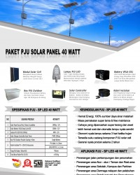 paket PJU solar panel 40 watt LED