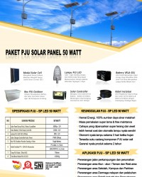 paket PJU solar panel 50 watt LED