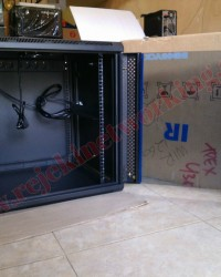 Rack Server Surabaya - Wallmoount Rack 12U  Depth 550mm Singgle Door