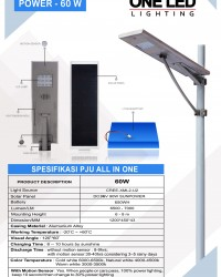 paket PJU ALL IN ONE 60 Watt LED