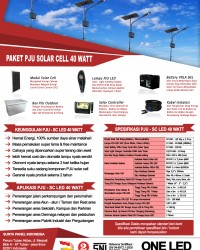 paket PJU solar cell 40 watt LED