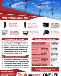 paket PJU solar cell 60 watt LED