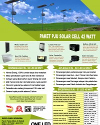 paket PJU solar cell 42 watt LED