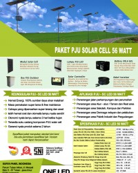 paket PJU solar cell 56 watt LED