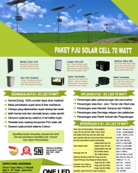 paket PJU solar cell 70 watt LED