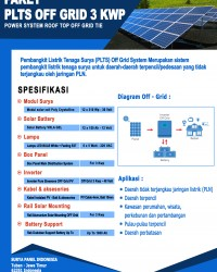 Paket PLTS Rooftop Off - Grid 3 Kwp