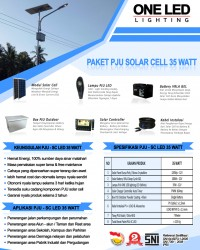 paket PJU solar cell 35 watt LED