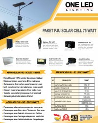 Paket PJU Solar Cell 75 Watt LED
