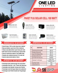 Paket PJU Solar Cell 100 Watt LED