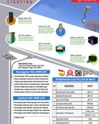 Paket PJU Tenaga Surya 60 Watt LED