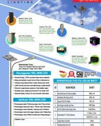 Paket PJU Tenaga Surya 80 Watt LED