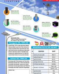 Paket PJU Tenaga Surya 100 Watt LED
