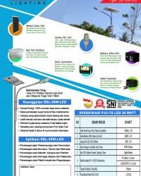 Paket PJU Tenaga Surya 30 Watt LED