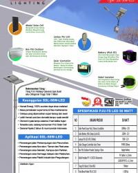 Paket PJU Tenaga Surya 50 Watt LED