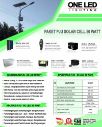 Paket PJU Solar Cell 50 Watt LED