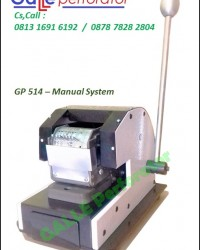 Mesin Perforasi Kertas -- GALLE Perforator - GL 514 / Manual System