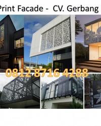 LASER PRINT FACADE for Exterior Interior House