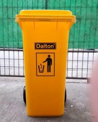 DUSTBIN / TEMPAT SAMPAH PLASTIK Kuning 120  L