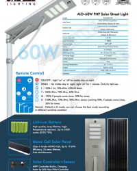Paket PJU Tenaga Surya ALL IN ONE 60 W (Philips LED)