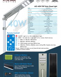 Paket PJU Tenaga Surya ALL IN ONE 40 W (Philips LED)