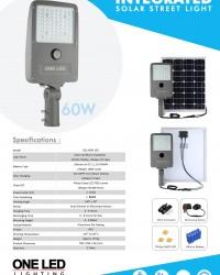 Paket PJU Tenaga Surya 60 W Integrated Lithium