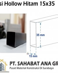 Besi Hollow Hitam 15x35x1.2 mm