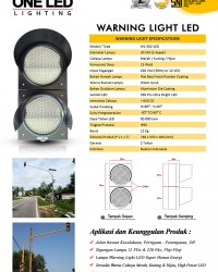 Lampu Warning Light 30 Cm - 2 Aspek
