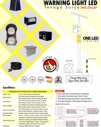 Paket Warning Light LED Temaga Surya 2 Aspek