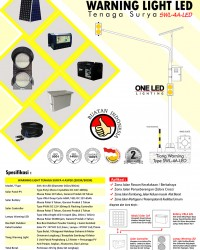 Paket Warning Light LED Temaga Surya 4 Aspek
