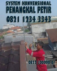 SUPPLY MATERIAL : PASANG PENANGKAL PETIR >> CILANDAK || PAKET LENGKAP