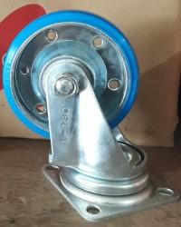 Caster Wheel NANSIN PU Blue Berkualitas