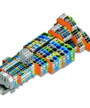 WAGO TOPJOB®S rail-mounted terminal blocks 2206 Series (6 (10) mm²/8 AWG)
