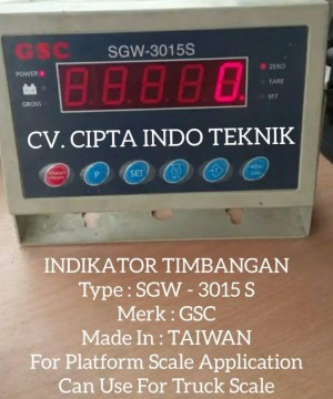 JUAL  INDIKATOR SGW - 3015 S MERK GSC