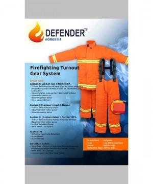 Baju Pemadam Tahan Panas NOMEX Defender 6 Oz