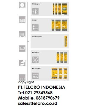 Jual Pilz safety relays PNOZ | PT. FELCRO INDONESIA