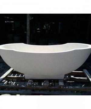Resin Terazzo Stone Bathtub Tipe C